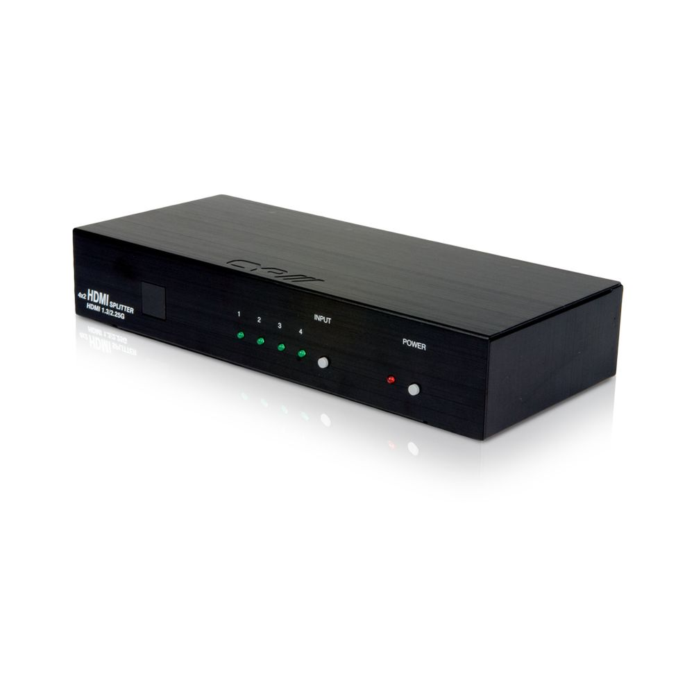 4-Way HDMI Switcher with 2 Identical Outputs