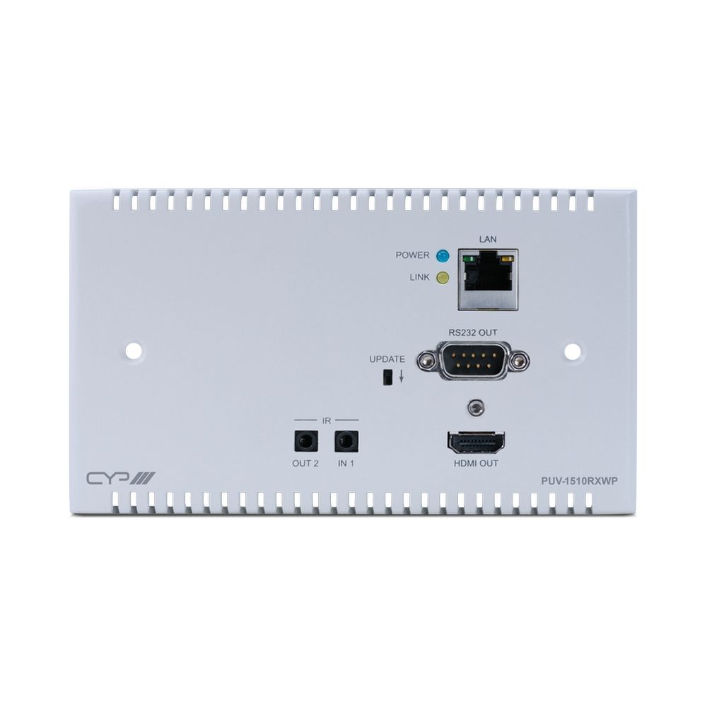 100m HDBaseT UK Wallplate Receiver
