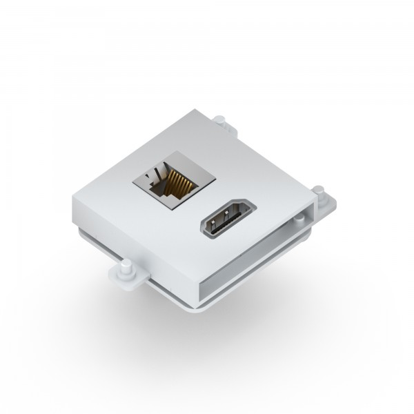Module Hdmi + Lan (Cat6) Colour Silver