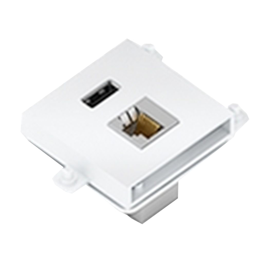 Connector Module Usb 3.0 + Lan Colour White